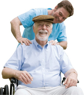 A caregiver massage his patient
